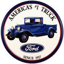 Vintage Ford Truck Fabric - amazon com ford trucks tin sign 12 x 12in home u0026 kitchen