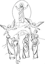 coloring page of jesus ascension jesus ascension coloring page coloring pages christmas for adults