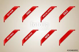 ribbons for sale corner ribbons set vector design element best offer best