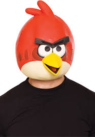 red angry birds mask angry birds fancy dress video u0026 board game