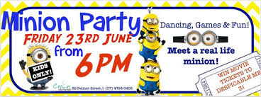 minion party minion party at crown on palmer townsville kids