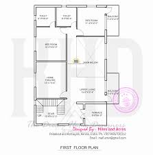 Kerala Home Design Kottayam Wide Flat Roof House With Floor Plan Kerala Home Design And First