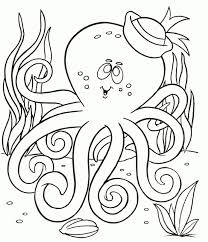 octopus coloring page 20 free printable narwhal coloring pages everfreecoloring com