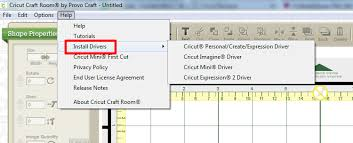 Cricut Craft Room Software - how do i install or manually update usb drivers for my cricut
