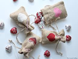 Homemade Valentine S Day Gifts For Her by Diy Valentine U0027s Day Burlap Gift Bags