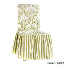 ruffled chair covers damask and stripe dining chair slipcover set of 2 free
