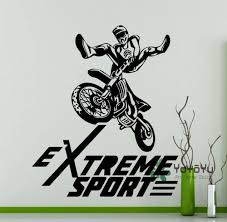 extreme sport logo motocross freestyle wall sticker bike garage
