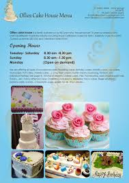 ollies cakes house menu by creastar issuu