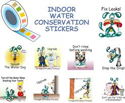 water conservation stickers for kids informative stickers kids