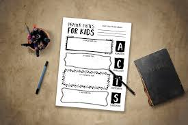 kids thanksgiving prayers prayer notes for kids pdf printable instant download boys