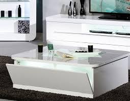 table basse blanc laque design carrée dixon 2 hcommehome
