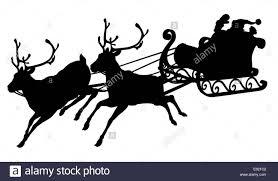 santa sleigh and reindeer santa sleigh silhouette of waving santa claus in his sleigh and