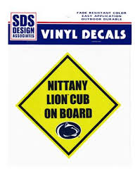 penn state alumni sticker penn state nittany lion cub on board 6 decal souvenirs car