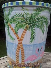decorative watering cans 30 gallon hand painted trash can krystasinthepointe com etsy
