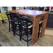 wooden high bar table timber bar table home furnishings