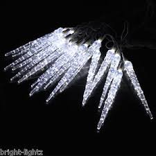 cool white icicle lights 10 metre christmas icicle lights frozen icicle drop effect xmas led