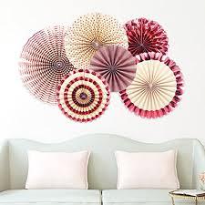 party fans gold party fans pink foil hanging paper fans photo backdrop