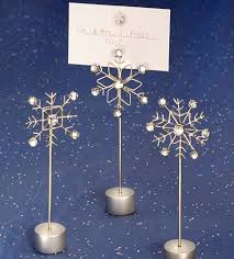 snowflake design place card holders winter wedding favors