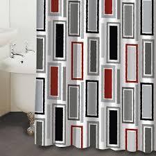 Black Grey And White Shower Curtain Black U0026 White Shower Curtains Shower Curtains Rectangles