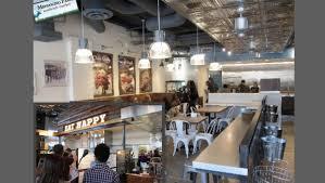 restaurant ceiling ideas mendocino farms copper ceiling in