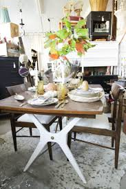 natural glam eclectic dining tablescape plus my october sweet