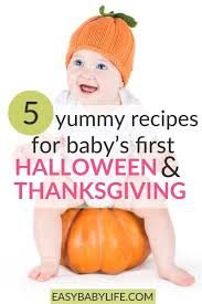 baby food recipes for baby s thanksgiving