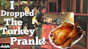dropping thanksgiving turkey prank top boyfriend and