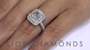 radiant cut halo engagement rings er 1236 1 88 carat f vs2 radiant cut engagement ring