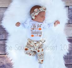 infant thanksgiving dresses unisex coming home outfitmy first thanksgivingbaby