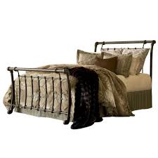 Metal Sleigh Bed Metal Sleigh Bed Bonners Furniture