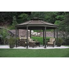 15 X 15 Metal Gazebo by 12 U0027 X 14 U0027 Cedar Gazebo With Aluminum Roof