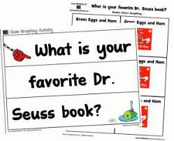 favorite dr seuss book graphing printables teacher stuff
