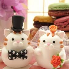 cat wedding cake topper unique cat wedding cake toppers
