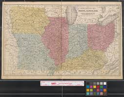 Map Of Kentucky And Ohio by Ohio Kentucky Indiana Illinois Iowa And Missouri The