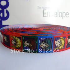 printed ribbon wholesale 25 yards 1 sublimation print sailor moon grosgrain printed