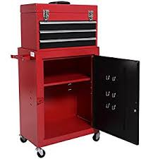 amazon com 2pc mini tool chest and storage cabinet roller tool