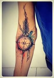 20 awesome compass tattoo ideas watercolor compass tattoo