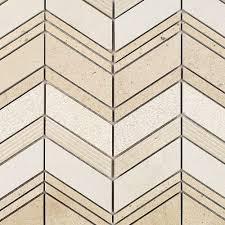 Marble Mosaic Tile Splashback Tile Brushed Oriental Marble Mosaic Tile 2 In X 8 In