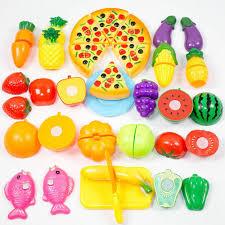Plastic Toy Kitchen Set 2017 Set Plastic Fruit Vegetable Kitchen Cutting Toys Early