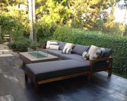 Teak Sectional Patio Furniture by Reclaimed Teak Etsy
