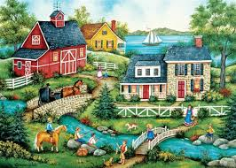 masterpieces jigsaw puzzles fishing for dinner jigsaw puzzle at