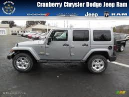 dodge jeep silver 2013 billet silver metallic jeep wrangler unlimited sahara 4x4