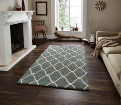 Modern Floor Rug Wave Design Tufted 100 Wool Rug Contemporary Home Decor