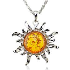 tibetan silver pendant necklace images Glowing sun necklace for women jpg