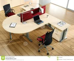Modern Partners Desk Partners Desk With Computers Stock Photo Image Of Building