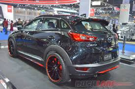 mazda cx3 black mazda cx3 with sporty body kits at 2016 bangkok motor show