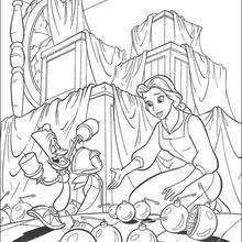 Color Pages Lumiere And Cogsworth Coloring Pages Hellokids Com by Color Pages