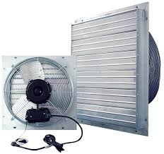 crawl space ventilation fan shutter fan 20 inch with cord indoor outdoor