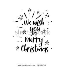 we wish you merry handwritten stock vector 727188718