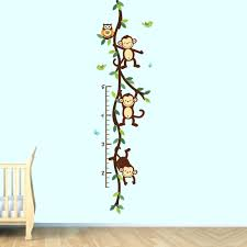 Nursery Monkey Wall Decals Etsy Nursery Wall Decals Monkey Wall Decal Growth Chart Swinging